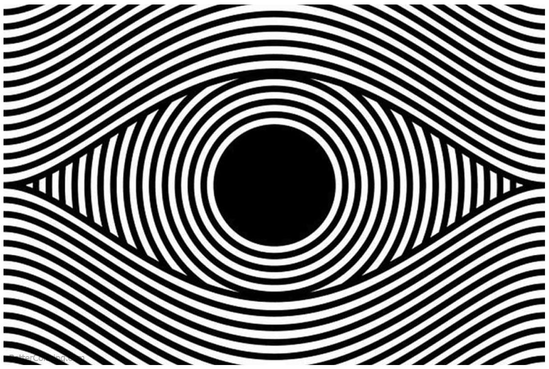optical illusion coloring pages printable op artwork adults