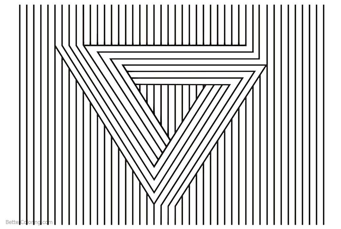 Optical Illusion Coloring Pages Visual Illusion - Free Printable ...