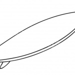 Outlined Surfboard Coloring Pages