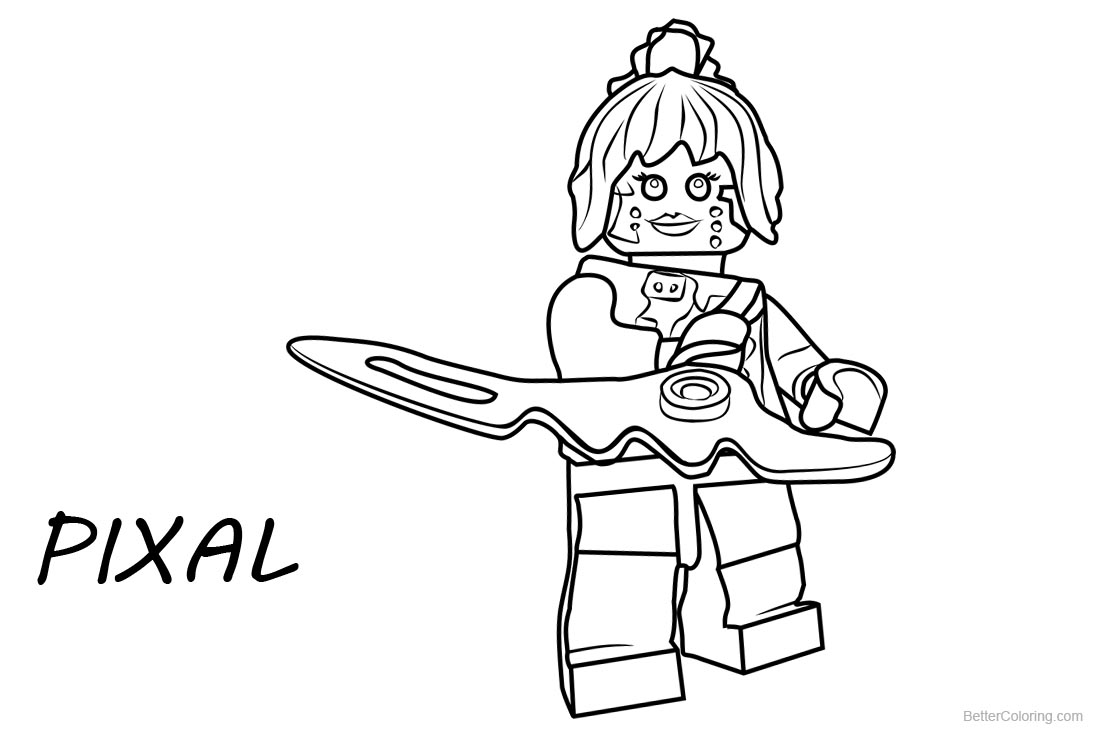 PIXAL from Lego Ninjago Coloring Pages printable for free