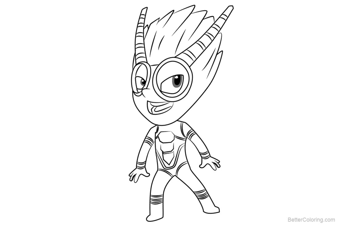 pj masks coloring pages firefly  free printable coloring
