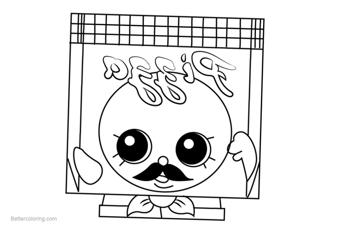 Free Pa Pizza Shopkins Coloring Pages Printable And For Kids Adults