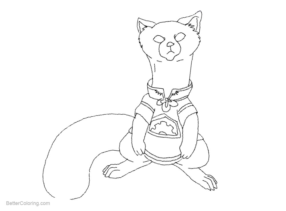 Free Pabu from The Legend Of Korra Coloring Pages printable