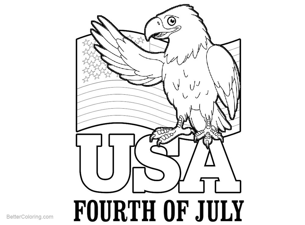 graphic regarding Patriotic Printable Coloring Pages referred to as Patriotic Coloring Webpages 4th of July Eagle - No cost Printable