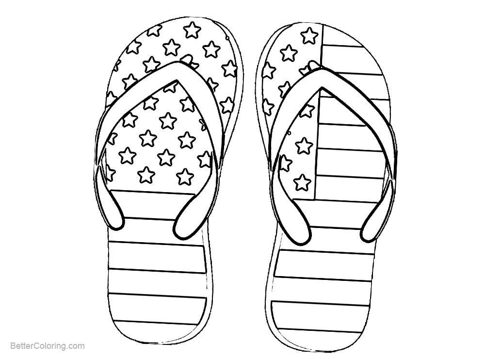 Patriotic Coloring Pages Shoes