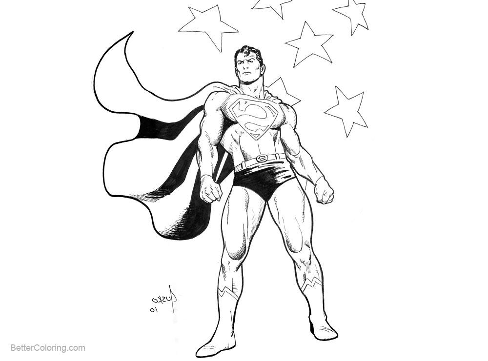 Free Patriotic Coloring Pages Superman MegaCon by JoeJusko printable