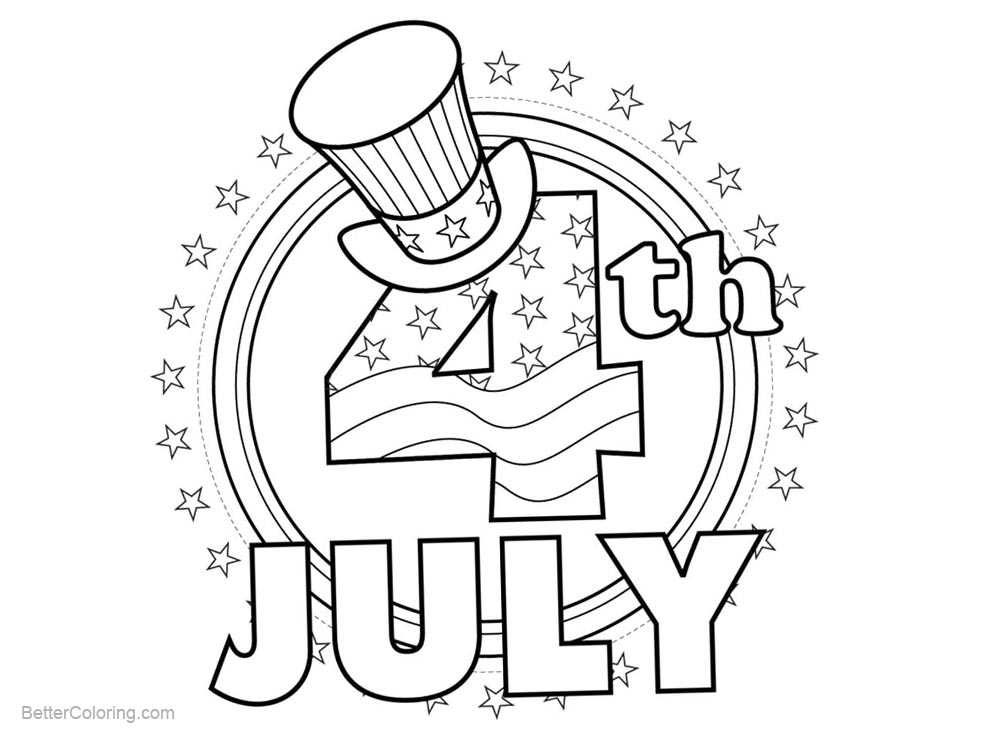 Patriotic Coloring Pages of America - Free Printable Coloring Pages