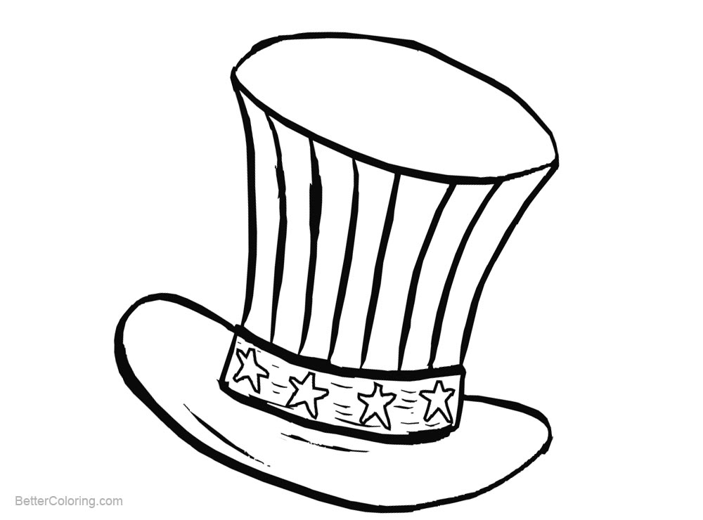 Free Patriotic Hat Coloring Pages printable