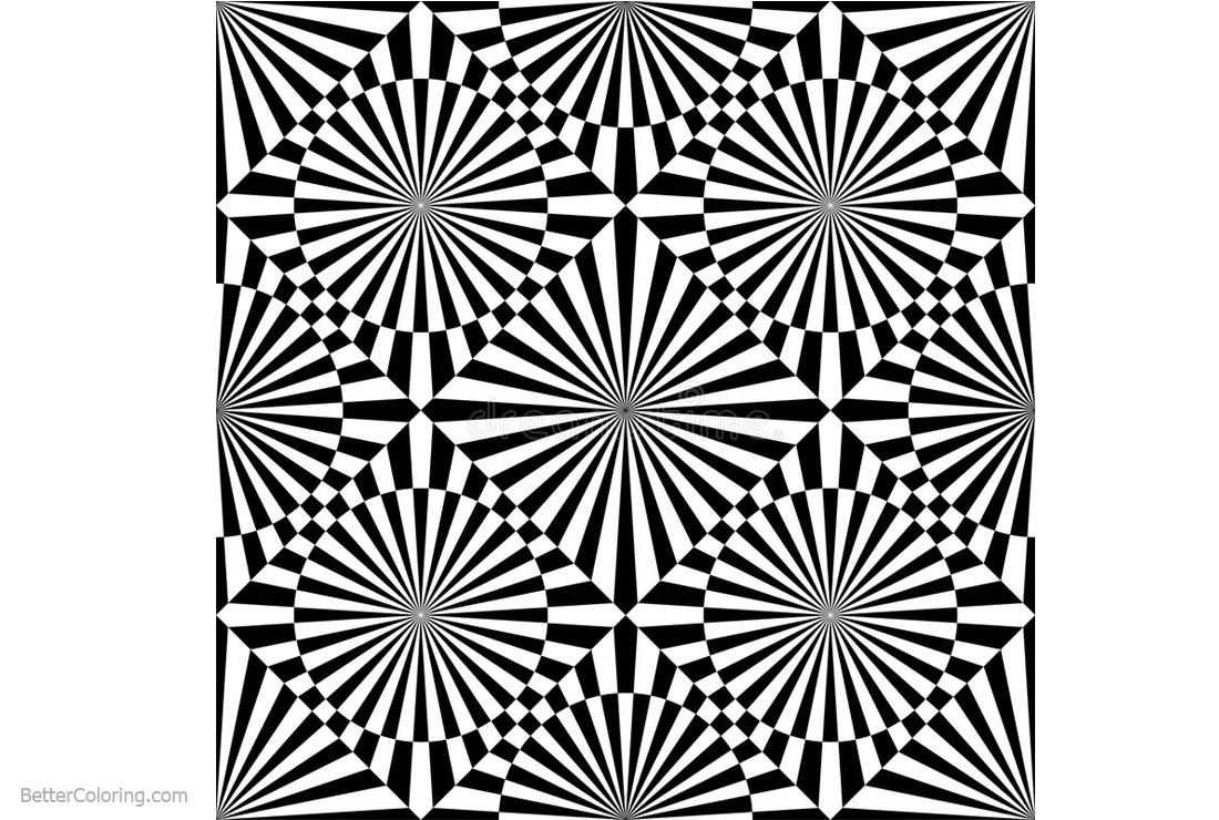 Patterns of Optical Illusion Coloring Pages - Free ...