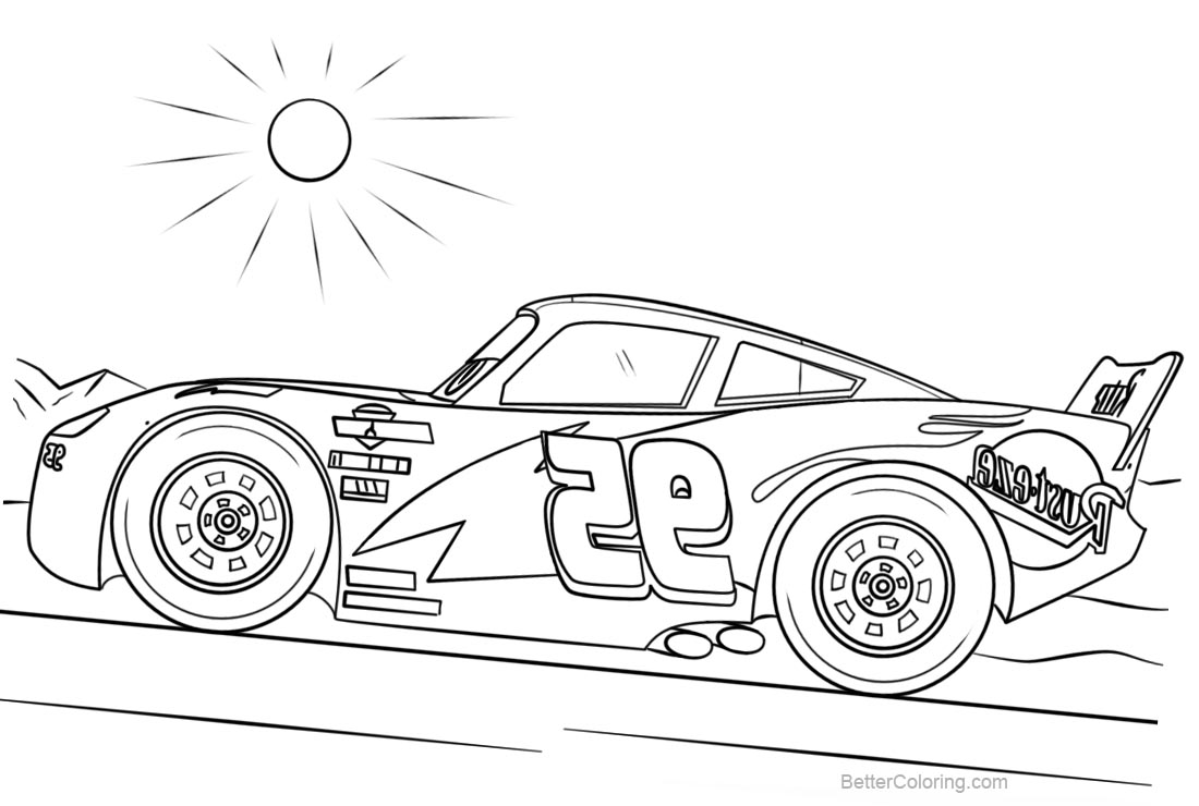 Free Pixar Cars 4 Coloring Pages Disney Lightning Mcqueen printable