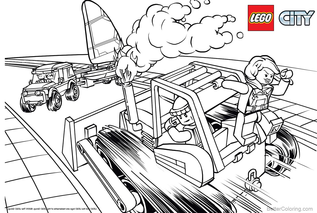 Police from Lego City Coloring Pages printable for free