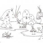 Pond Coloring Pages Bugs Life
