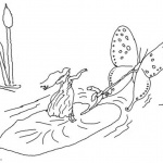 Pond Coloring Pages Fairy