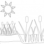 Pond Coloring Pages Plants and Sunshine