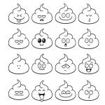 Poop Emoji Coloring Pages