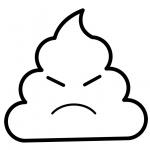 Poop Emoji Coloring Pages Angry Poop