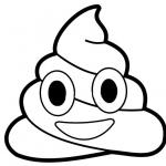 Poop Emoji Coloring Pages Clipart