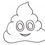 Poop Emoji Coloring Pages Happy Poop