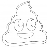 Poop Emoji Coloring Pages Smile Poop