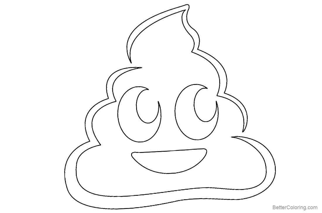 Poop Emoji Coloring Pages Smile Poop printable for free