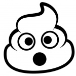 Poop Emoji Coloring Pages Surprised