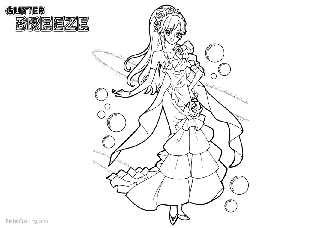Precure Glitter Force Coloring Pages printable for free