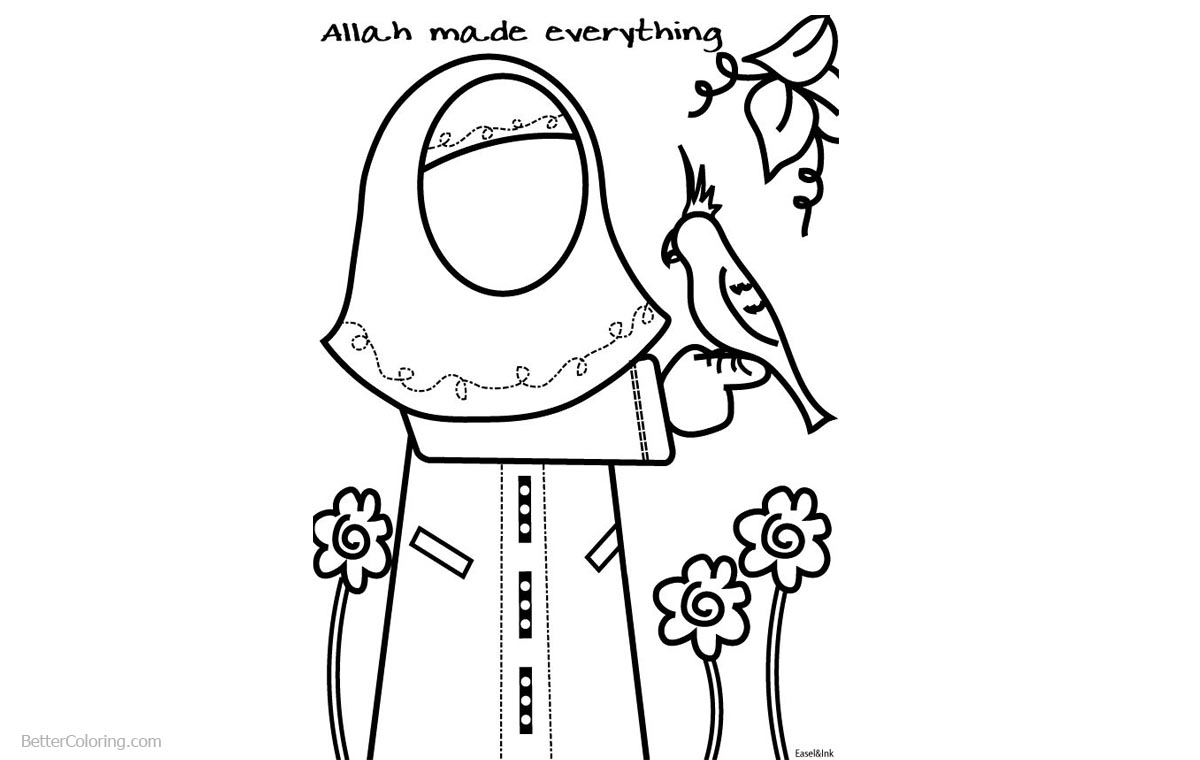 Ramadan Coloring Pages Allah Made Everything printable for free