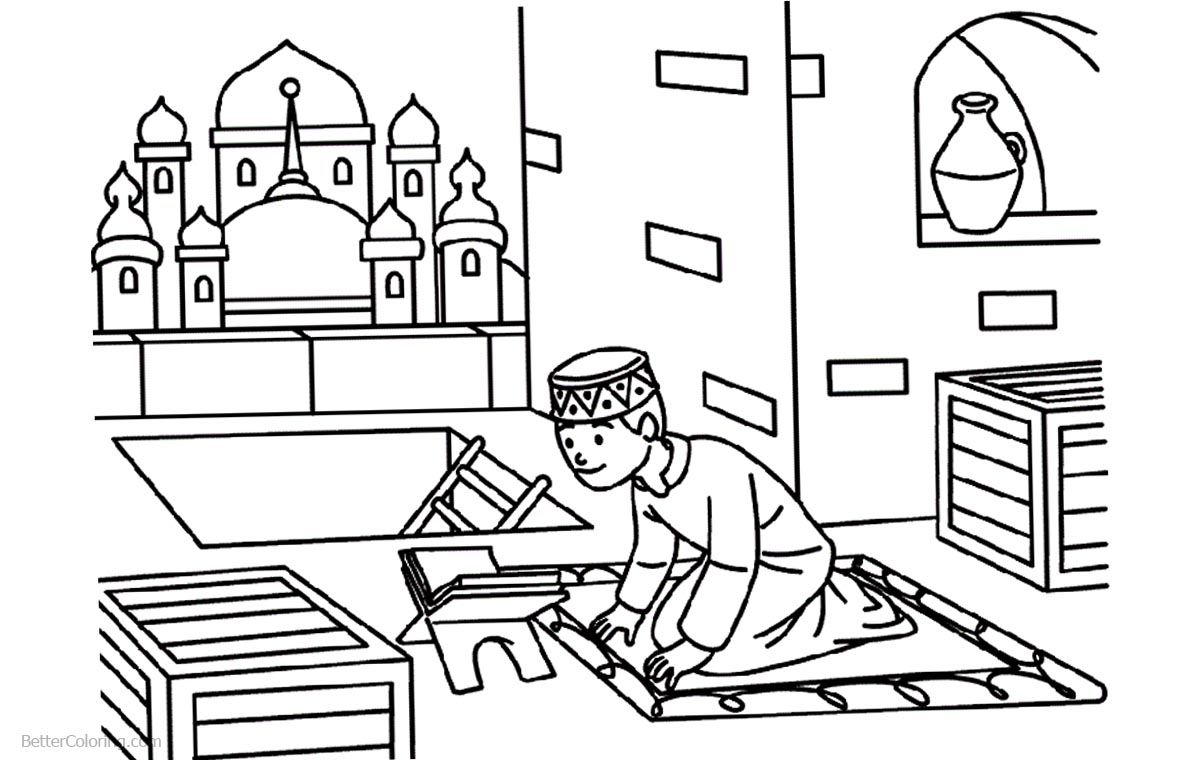Ramadan Coloring Pages Clipart - Free Printable Coloring Pages