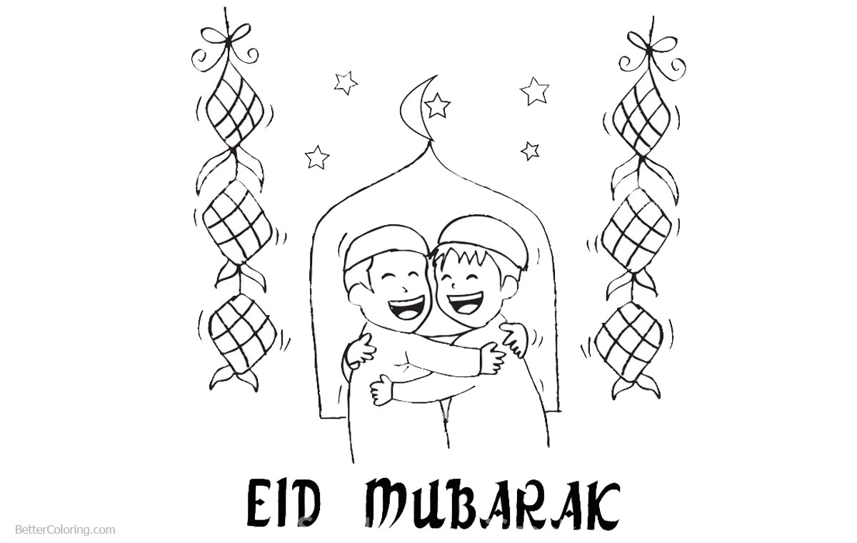 Ramadan Coloring Pages Line Drawing