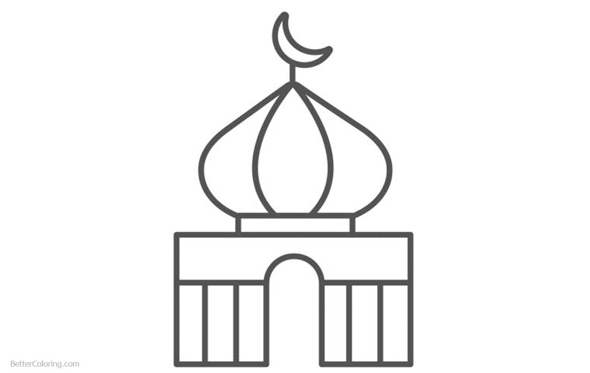 Ramadan Coloring Pages Muslim Mosque - Free Printable Coloring Pages