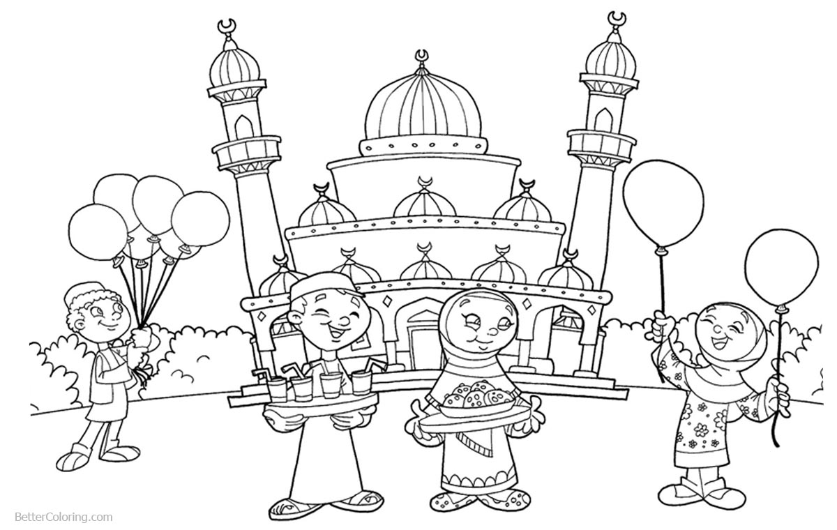 free mosque coloring pages - photo#19