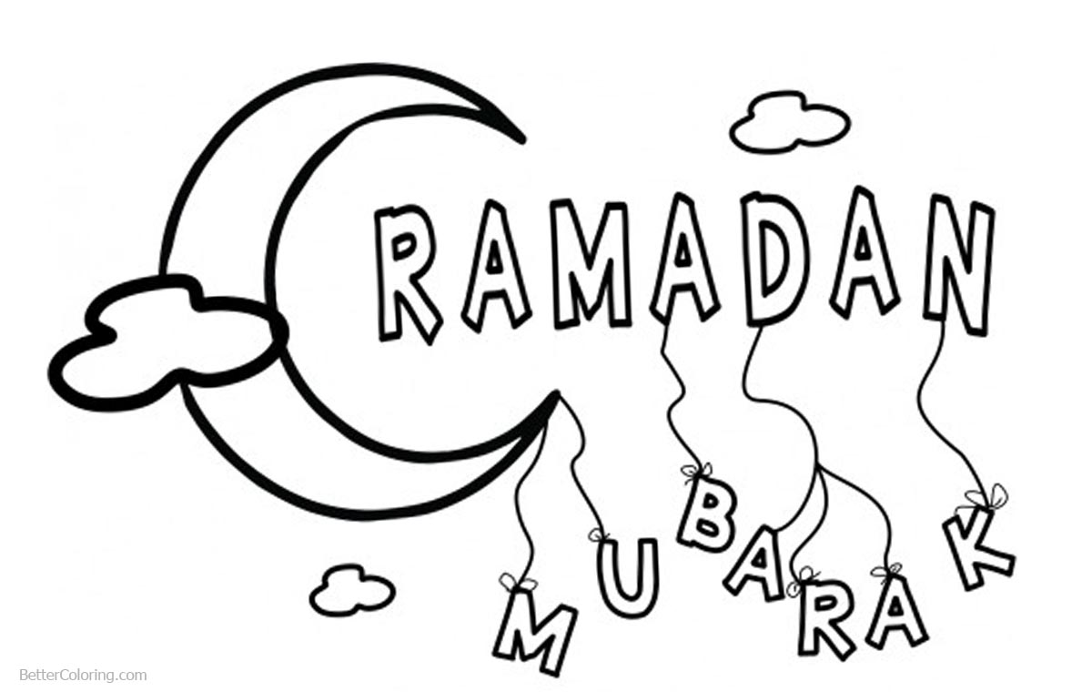 Ramadan Coloring Pages Simple Drawing - Free Printable ...