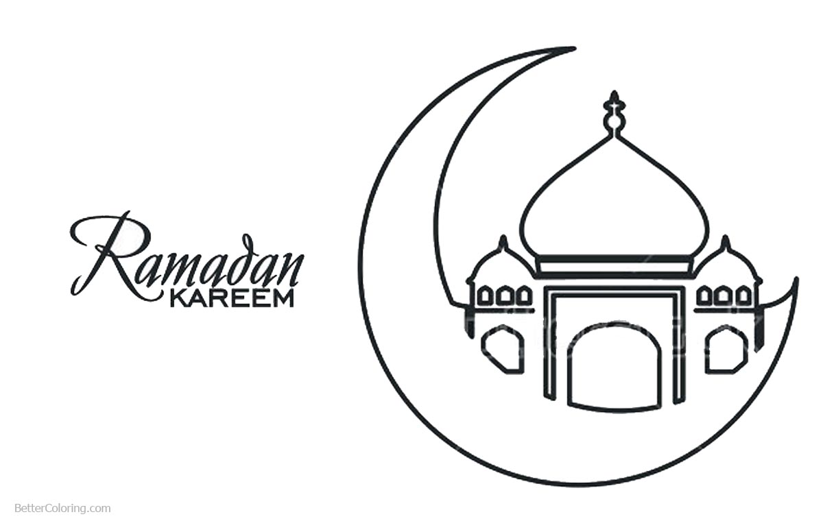 Ramadan Kareem Coloring Pages printable for free
