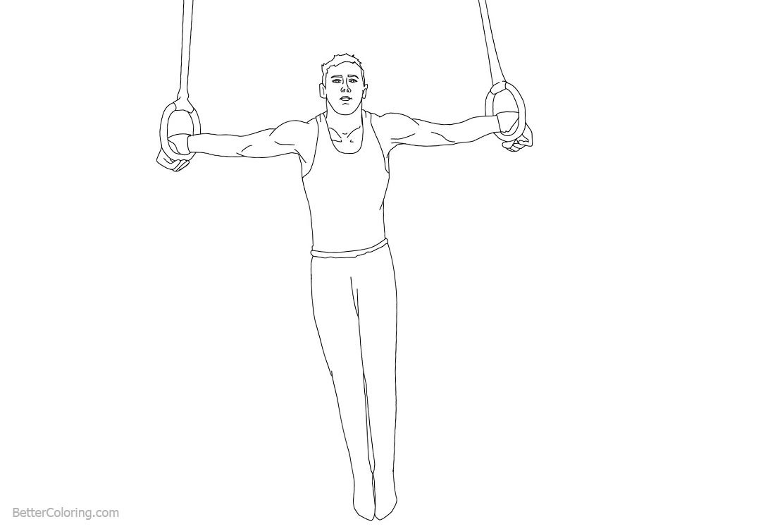 Rings from Gymnastics Coloring Pages printable for free
