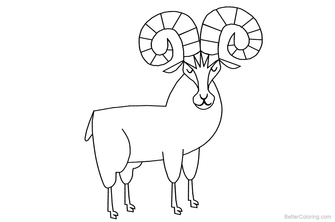 Rocky Mountain Animals Coloring Pages Goats - Free Printable ...