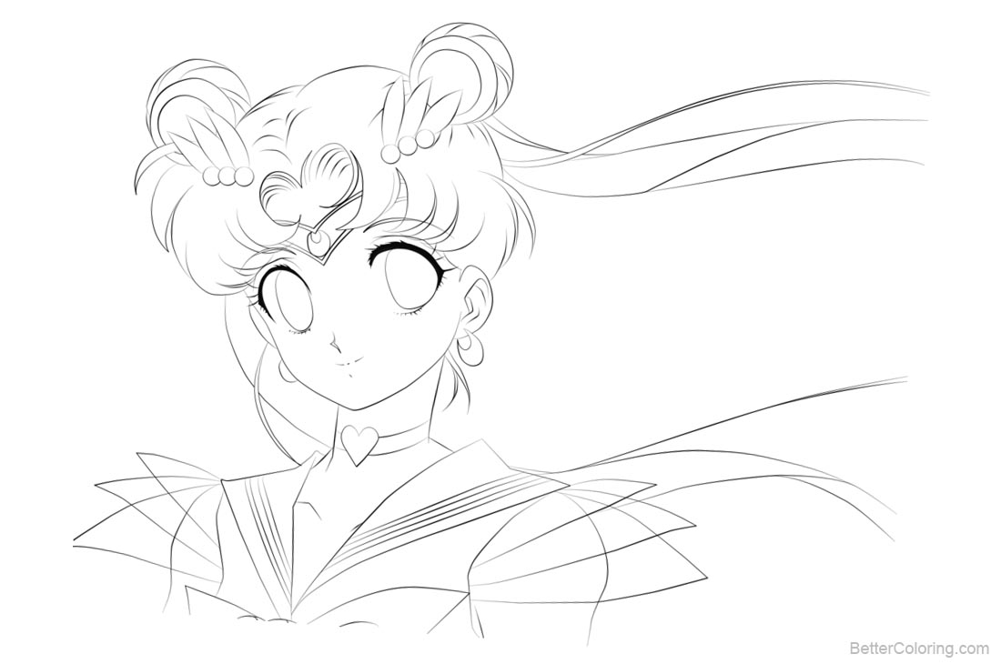 Sailor Moon Coloring Pages Lineart - Free Printable Coloring Pages