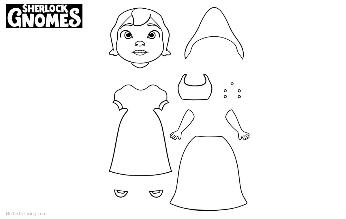 Sherlock Gnomes Coloring Pages Activity printable for free