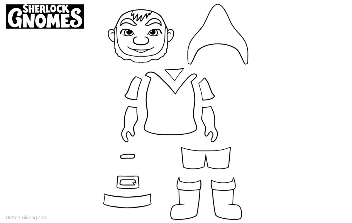 Sherlock Gnomes Coloring Pages Gnomeo Activity printable for free