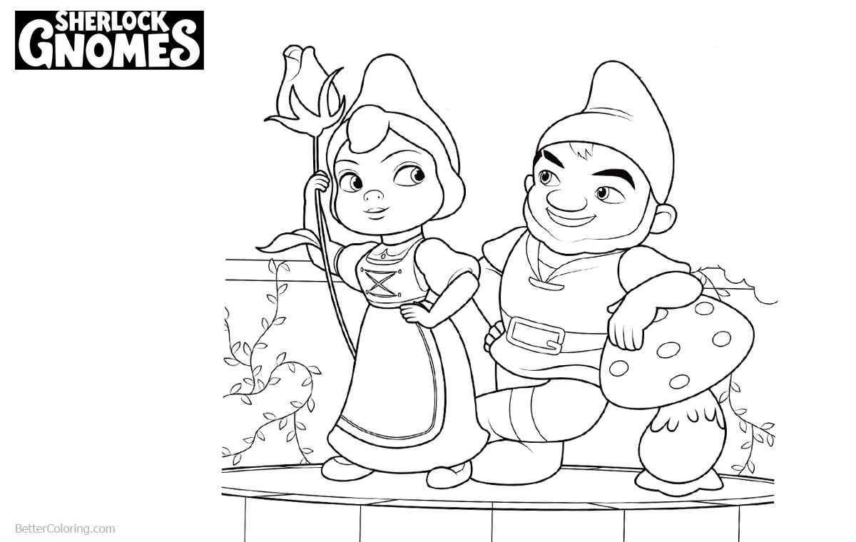 Sherlock Gnomes Coloring Pages Gnomeo and Juliet printable for free