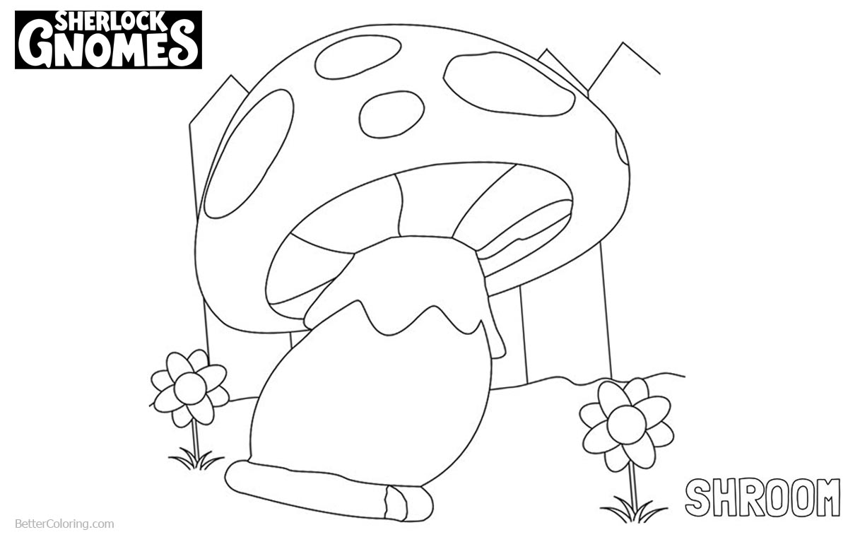 Sherlock Gnomes Coloring Pages Shroom printable for free