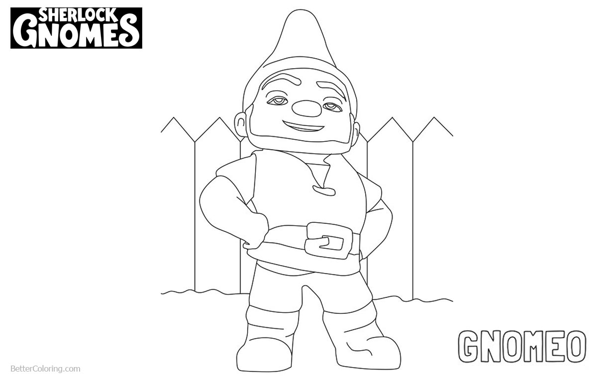 Sherlock Gnomes Gnomeo Coloring Pages printable for free