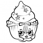 Shopkins Coloring Pages Black and White