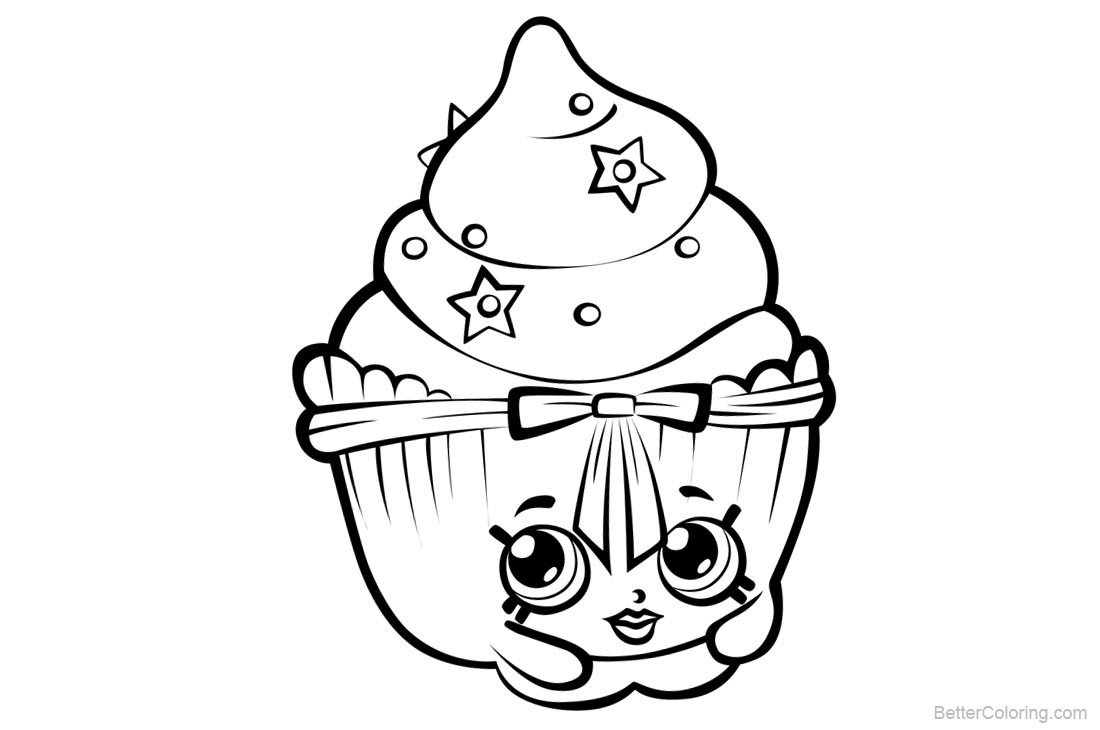 Shopkins Coloring Pages Black and White printable for free