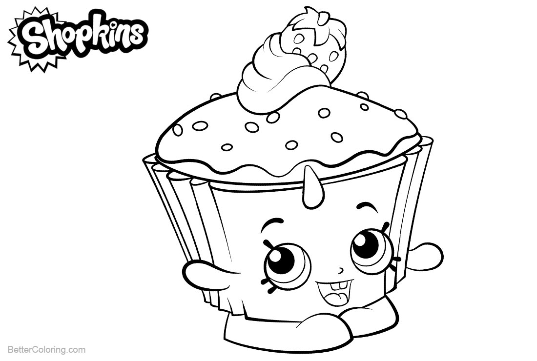 Shopkins Coloring Pages Cupcake Chic printable for free