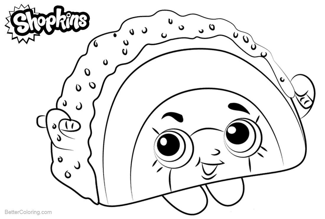 Shopkins Coloring Pages Rainbow Bite printable for free
