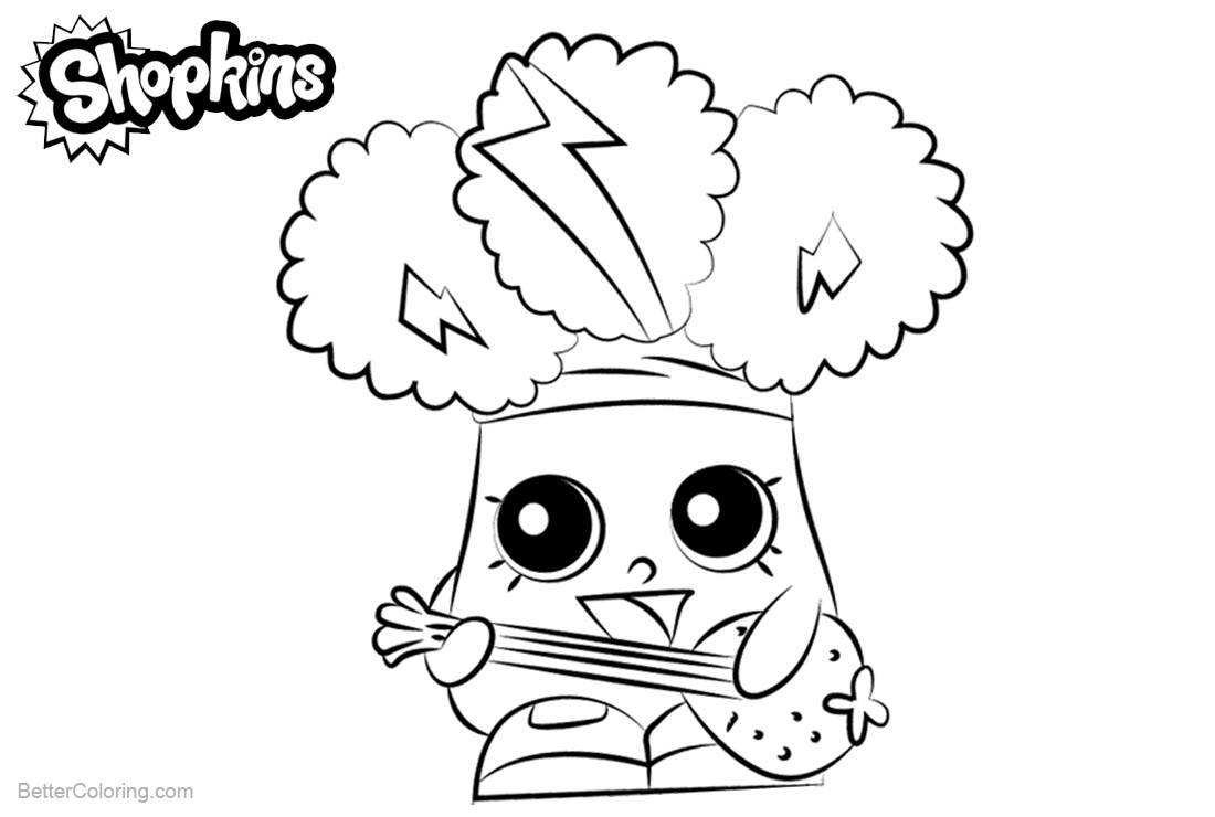 Shopkins Coloring Pages Rockin Broc printable for free