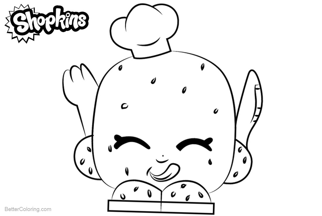 Shopkins Coloring Pages Rolly Roll printable for free