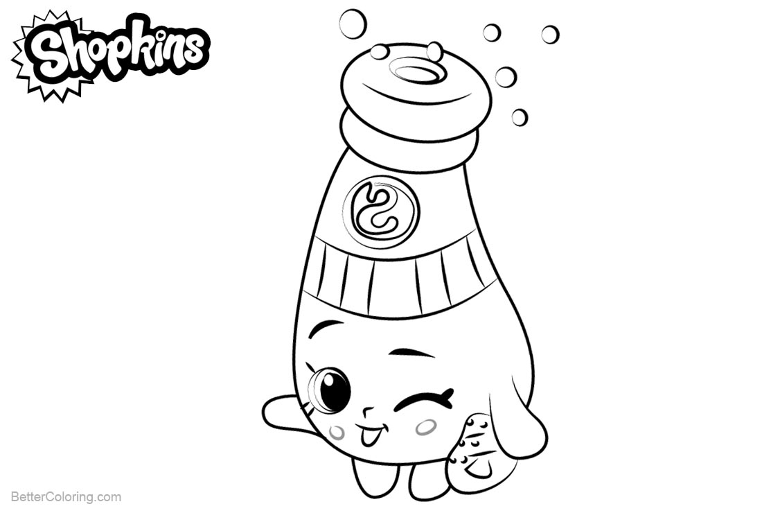 Shopkins Coloring Pages Sally Shakes printable for free