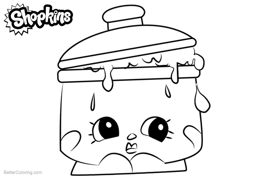 Shopkins Coloring Pages Saucy Pan printable for free