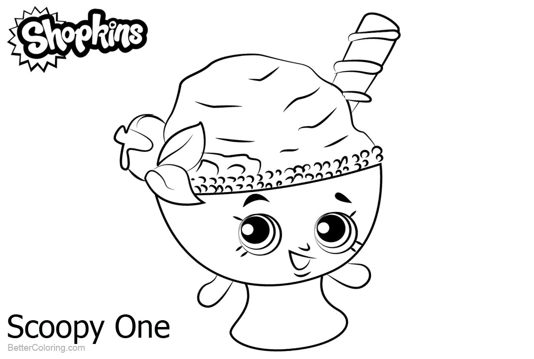 Shopkins Coloring Pages Scoopy